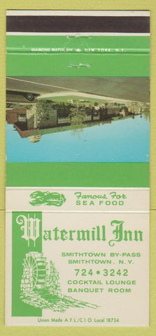 Matchbook Cover - Watermill Inn Smithtown NY 30 Strike
