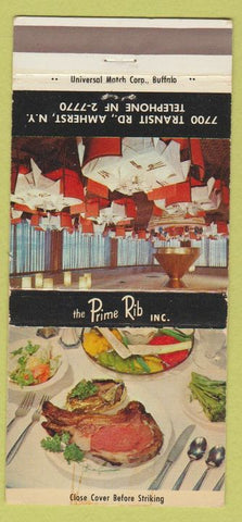 Matchbook Cover - Prime Rib Inc Amherst NY 30 Strike