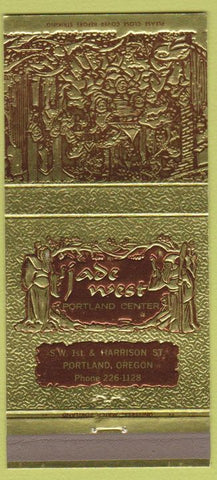 Matchbook Cover - Jade West Portland OR Chinese restaurant 30 Strike