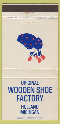 Matchbook Cover - Wooden Shoe Factory Holland MI CREASE 30 Strike