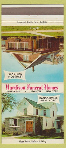 Matchbook Cover - Hardison Funeral Home Lewiston NY 30 Strike