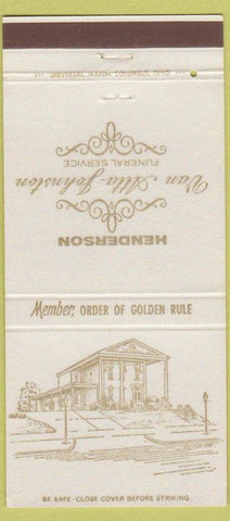Matchbook Cover - Henderson Funeral Home Newark OH 30 Strike