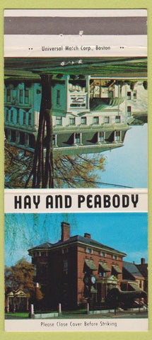 Matchbook Cover - Hay and Peabody Funeral Home Scarborough Portland ME 30 Strike