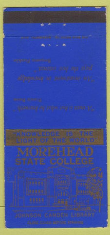 Matchbook Cover - Morehead State College KY 30 Strike