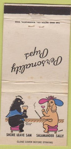 Matchbook Cover - Personality Pups Dogs WEAR 30 Strike