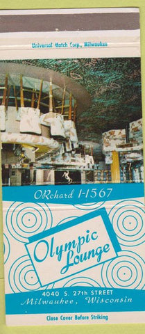 Matchbook Cover - Olympic Lounge Milwaukee WI 30 Strike