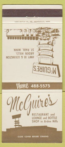 Matchbook Cover - McGuire's St Paul MN Restaurant 30 Strike