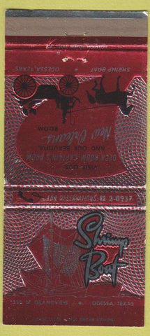 Matchbook Cover - Shrimpt Boat Odessa TX 30 Strike