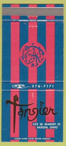 Matchbook Cover - Tangier Restaurant Akron OH 30 Strike