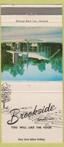 Matchbook Cover - Brookside Restaurant Findlay OH 30 Strike
