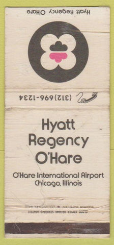 Matchbook Cover - Hyatt Regency Chicago O'Hare IL WORN 30 Strike