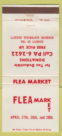Matchbook Cover - Flear Market St Louis? MO 30 Strike