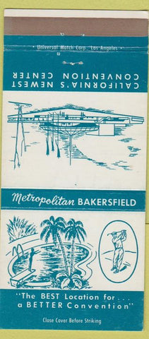 Matchbook Cover - Metropolitan Convention Center Bakersfield CA Golf 30 Strike