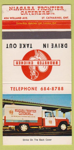 Matchbook Cover - Niagara Frontier Caterers St Catharines NY truck 30 Strike