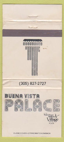 Matchbook Cover - Buena Vista Palace Walt Disney World WEAR 30 Strike