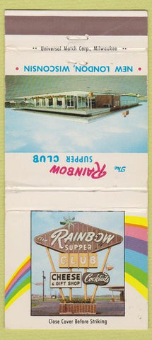 Matchbook Cover - Rainbow Supper Club New London WI 30 Strike