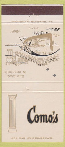 Matchbook Cover - Como's Milwaukee WI 30 Strike