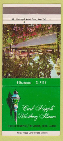 Matchbook Cover - Carl Hoppl's Westbury Manor LI NY WEAR 30 Strike