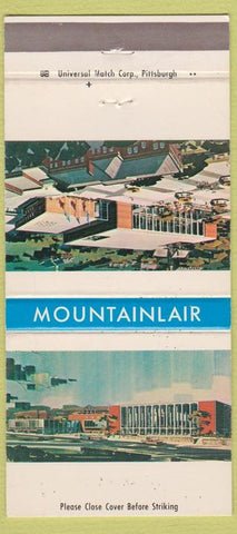 Matchbook Cover - Mountainlair West Virginia University Morgantown WV 30 Strike