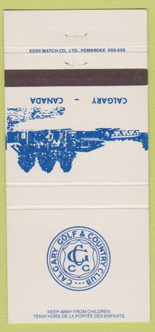 Matchbook Cover - Calgary Golf Country Club AB 30 Strike