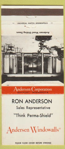 Matchbook Cover - Andersen Windows Ron Anderson 30 Strike