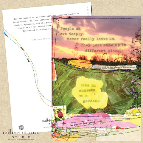 Sunsets and Garden Sympathy Card :: Colleen Attara