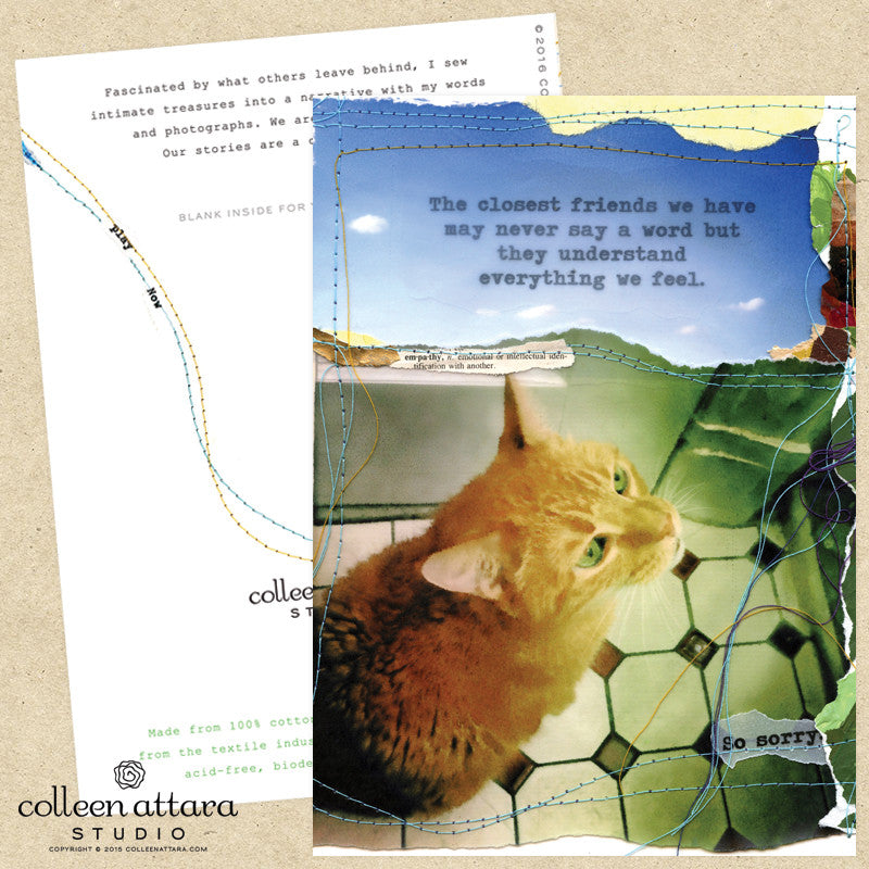 Collage Cat Sympathy Card