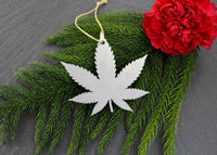 Weed Christmas Ornament