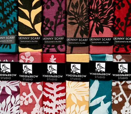 Botanical Skinny Scarf Collection