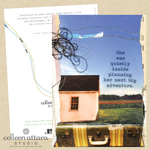 Quietly Planning Her Next Adventure Mixed Media Card