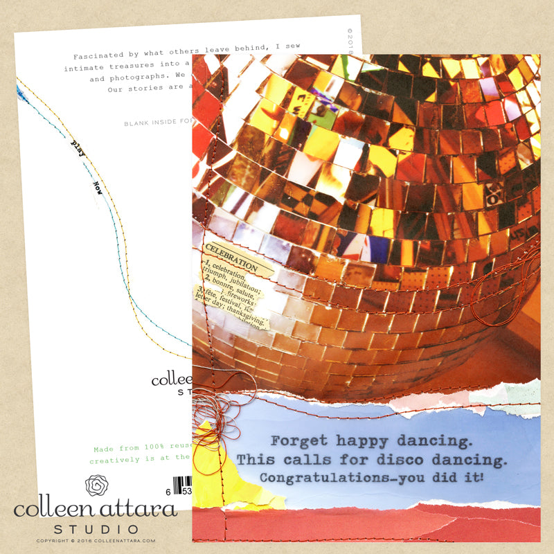 Disco Ball Congratulations Card
