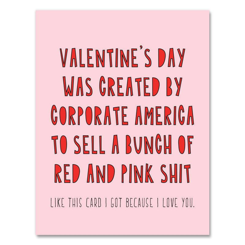Red and Pink Corporate Valentine Card