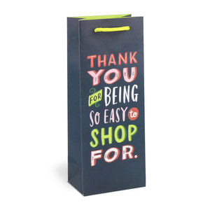 Emily McDowell Thank You for Being Easy to Shop For paper Wine Bag