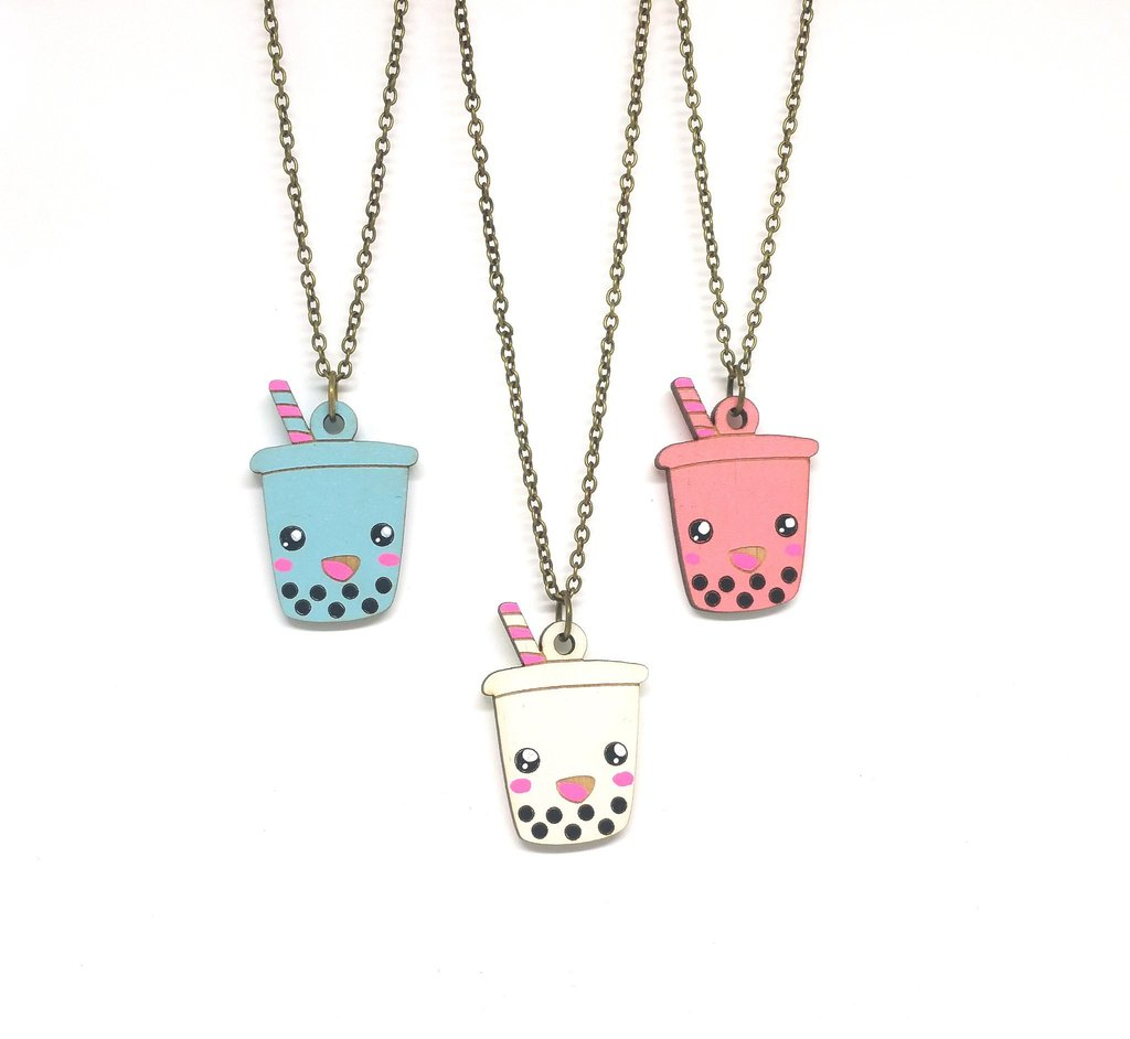 Cute Boba Necklace