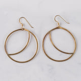 Brass Moon Sliver Earrings