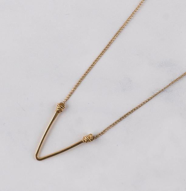 "Basics Collection | Narrow ""V"" Necklace"