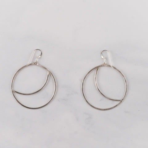 Sterling Silver Moon Sliver Earrings