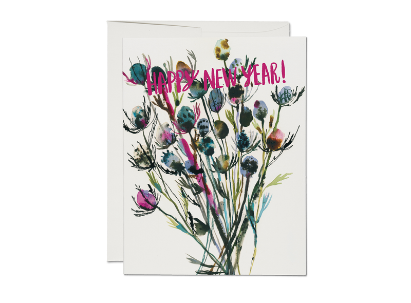 Painted Thistle New Year Card