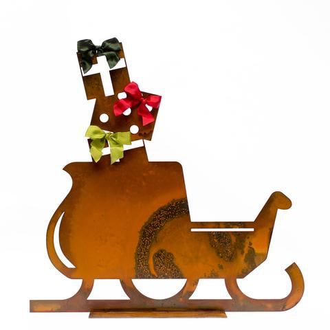 Holiday Sleigh with Presents Sculpture