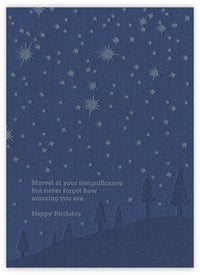 Under the Stars Letterpress Birthday Card