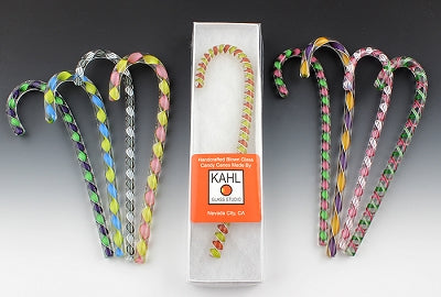 Blown Glass Candy Canes :: Robert Kahl Glass
