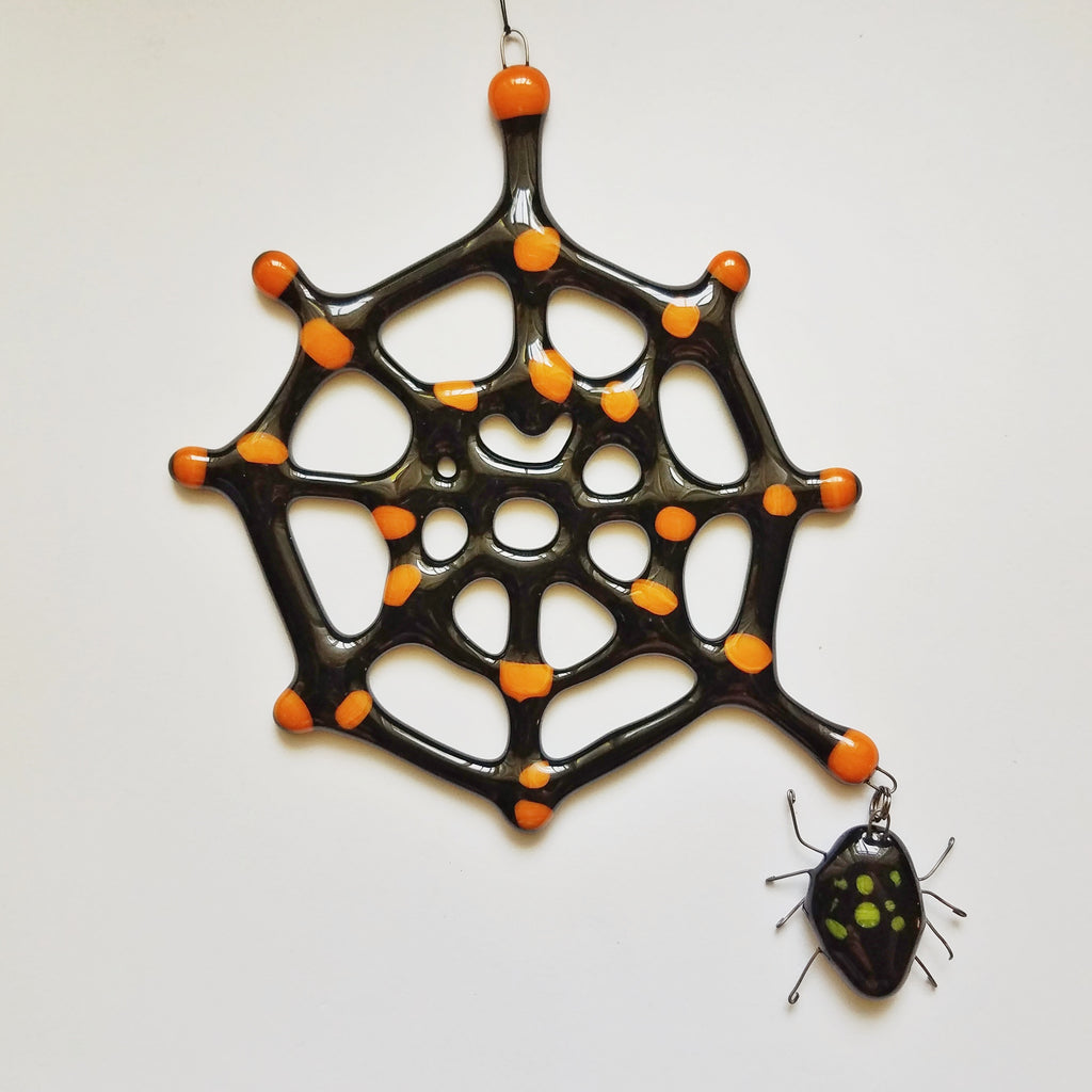 Halloween Spider & Web Ornaments