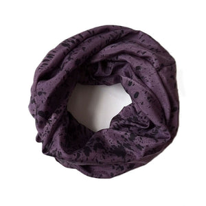 Purple and Black Speckled Infinity Scarf