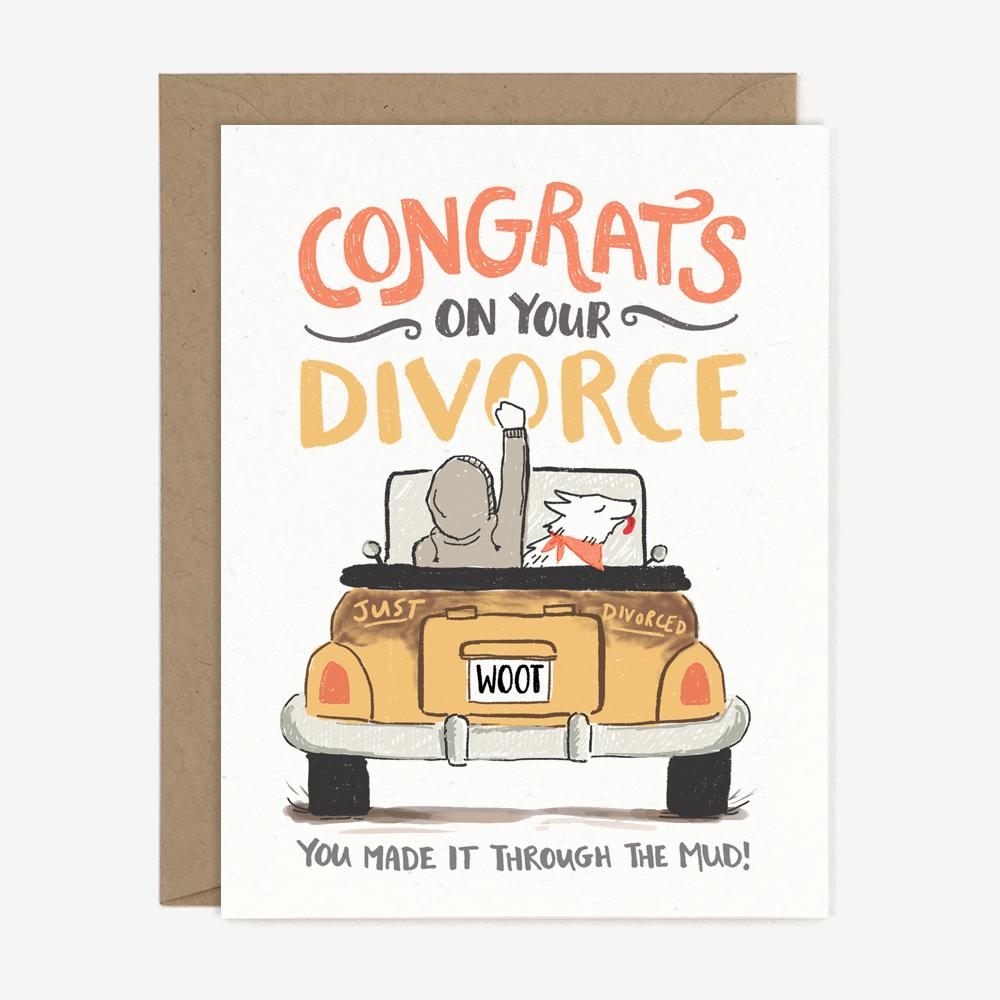 Congrats on your divorce card