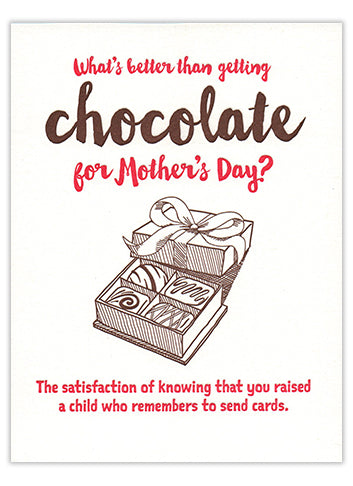 Chocolate Mother's Day Card