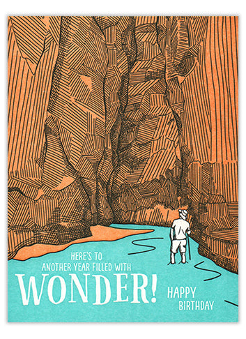 Wonder Adventure Letterpress Birthday Card