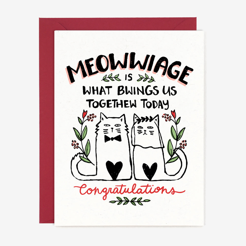 Princess Bride Cat Wedding Card