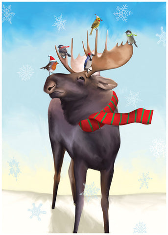 Moose Taxi Christmas Card