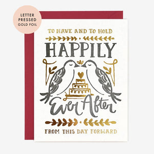 Foil and Letterpress Wedding Card