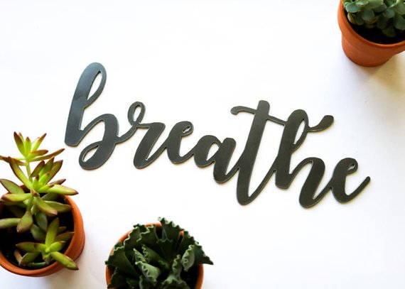 Breathe Metal Word Sign